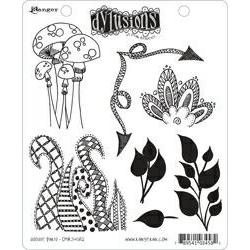 Dylusions Cling Rubber Stamp - Doodle Parts