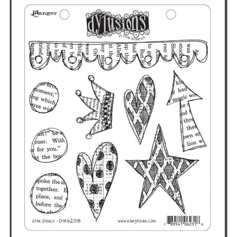 Dylusions Cling Rubber Stamp - Star Struck