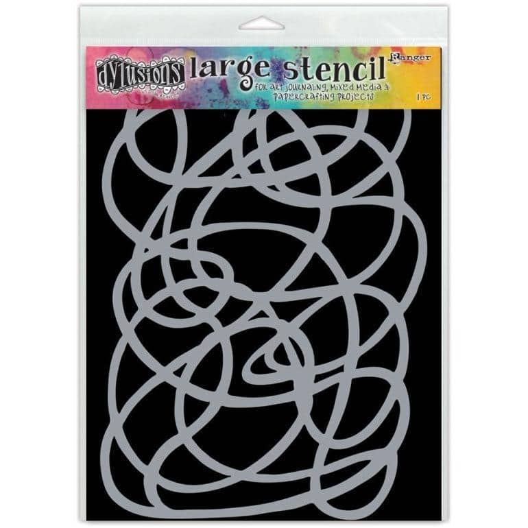 Dylusion Large Stencil - Squiggle, Large
