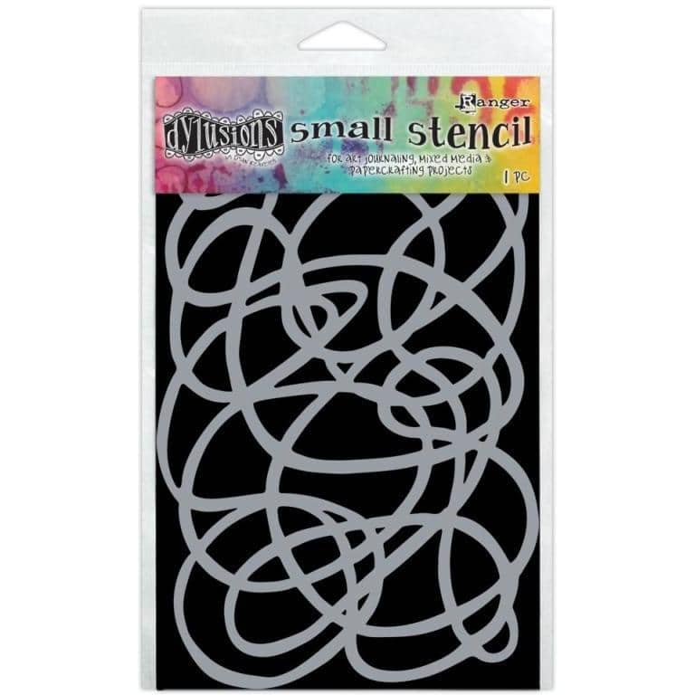 Dylusion Large Stencil - Squiggle, Small