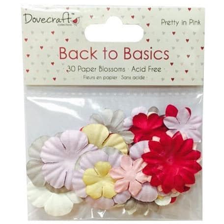 Dovecraft Back to Basics Paper Blossoms - Pretty in Pink