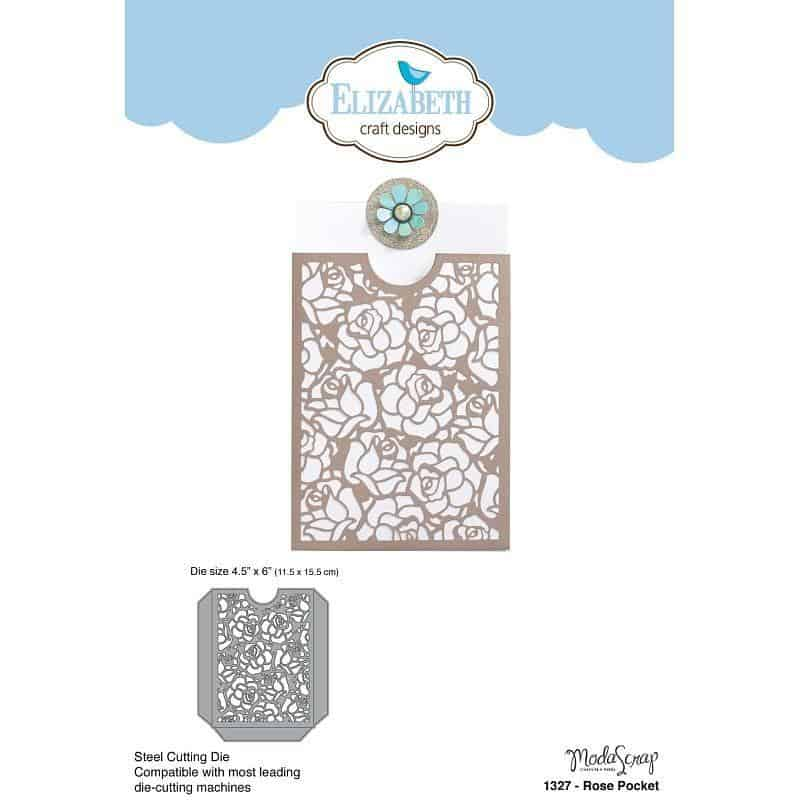 Elizabeth Craft Designs- Rose  Pocket Die