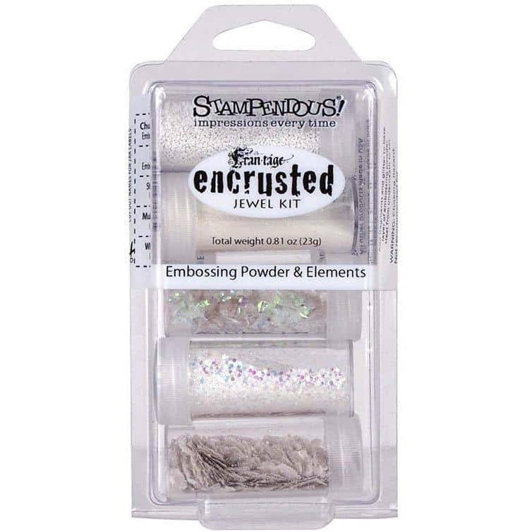 Stampendous Frantage Encrusted Jewel Kit - White