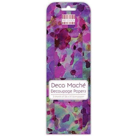 First Edition Decoupage Papers - Purple Watercolour