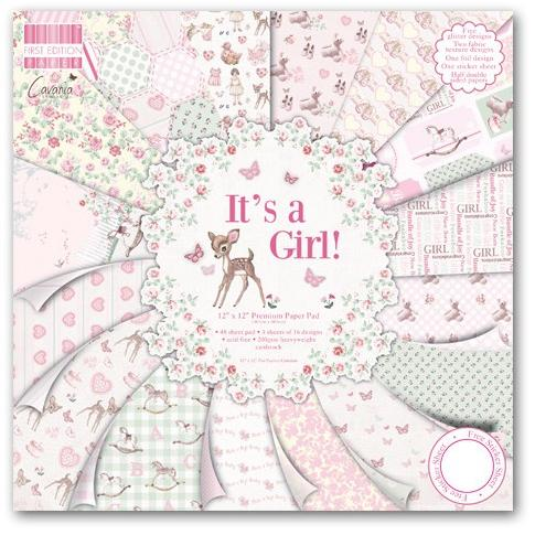 First Edition12x12 Paper Pad - It's a Girl
