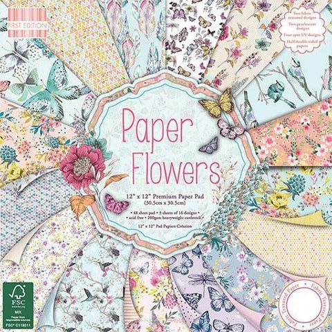 First Edition 12x12 Paper Pad - Paper Flowers