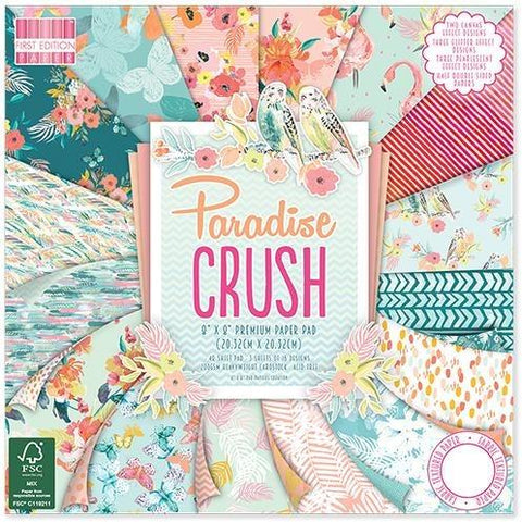First Edition 8x8 Paper Pad - Paradise Crush