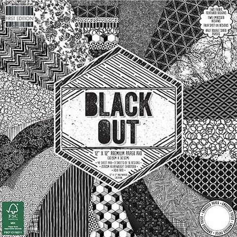 First Edition 12x12 Paper Pad - Black Out