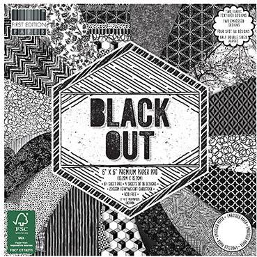 First Edition 6x6 Paper Pad - Black Out