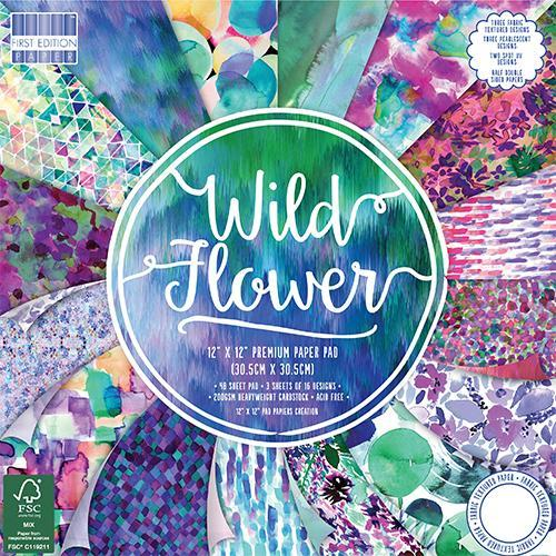 First Edition 12x12 Paper Pad - Wild Flower