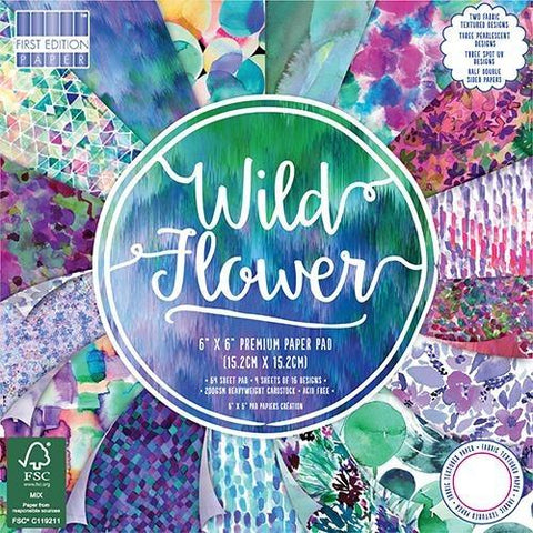 First Edition 6x6 Paper Pad - Wild Flower
