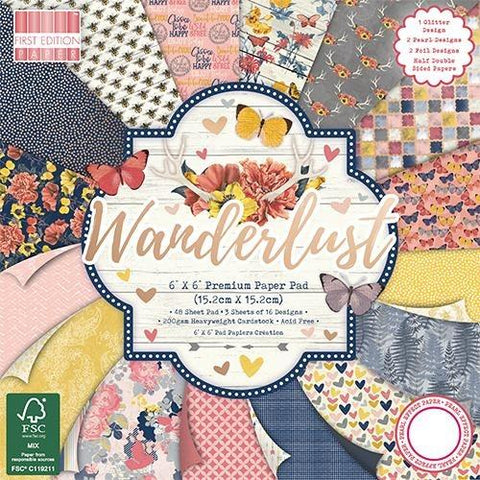First Edition 6x6 Paper Pad - Wanderlust