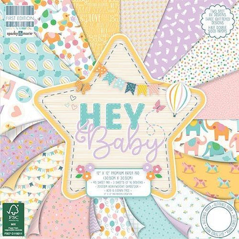 First Edition 12x12 Paper Pad - Hey Baby