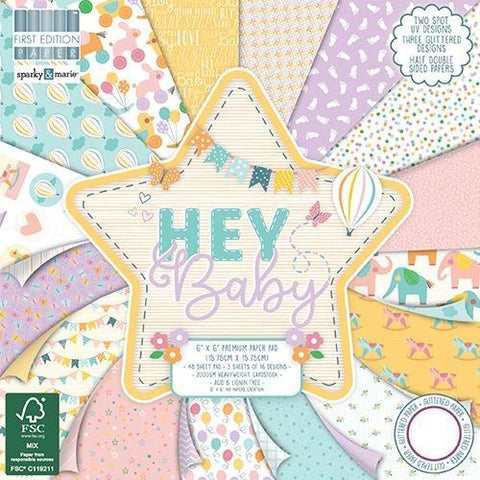 First Edition 6x6 Paper Pad - Hey Baby