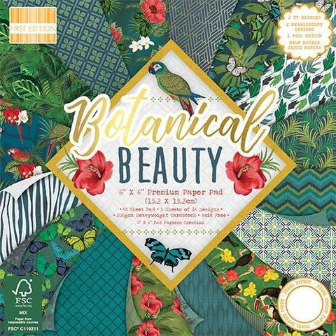 First Edition 6x6 Paper Pad - Botanical Beauty