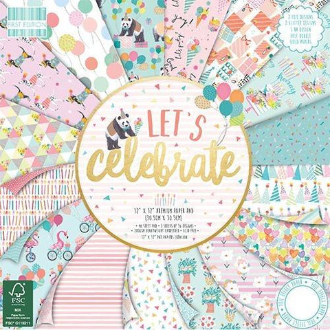 First Edition 12x12 Paper Pad - Let's Celebrate