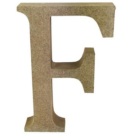 MDF Letter Blank - F