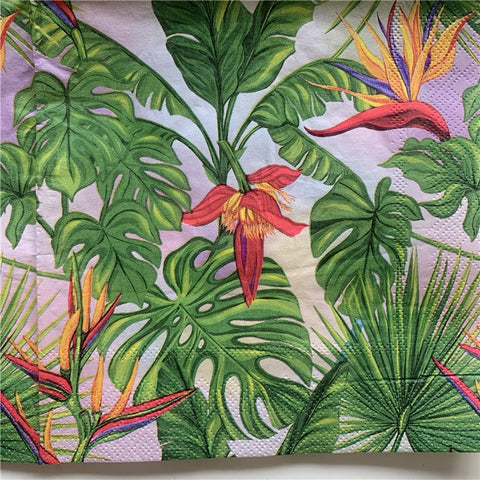 Decoupage Napkin - Birds of Paradise