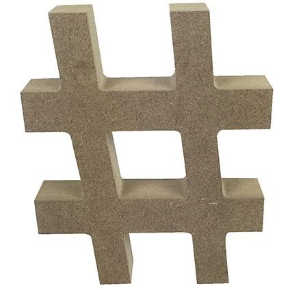 MDF Letter Blank -Hashtag