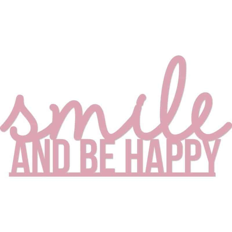 Kaiser Craft Decorative Die Words - Smile & Be Happy