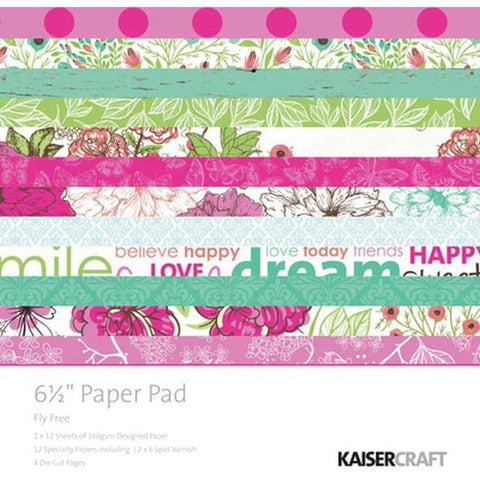 "KaiserCraft Paper Pad 6.5"" - Fly Free"