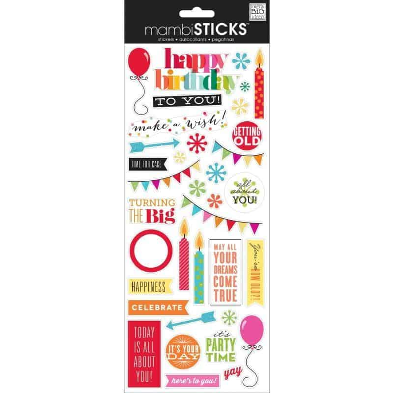 MAMBI Sticks - Clear Stickers - Getting Old