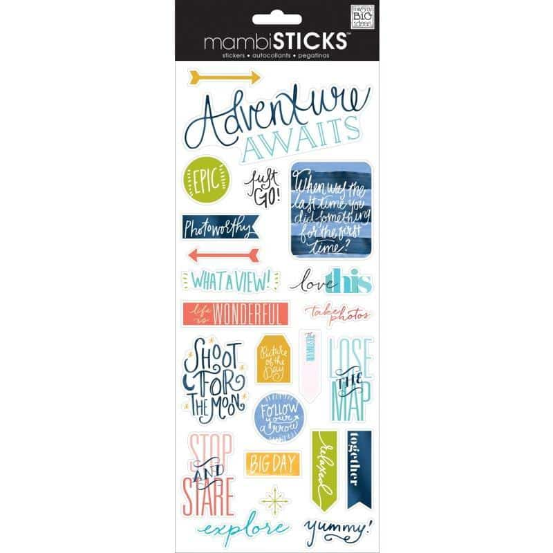 MAMBI Sticks - Clear Stickers - Just Go Travel