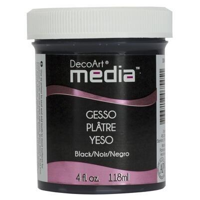 DecoArt Mixed Media - Black Gesso 4oz