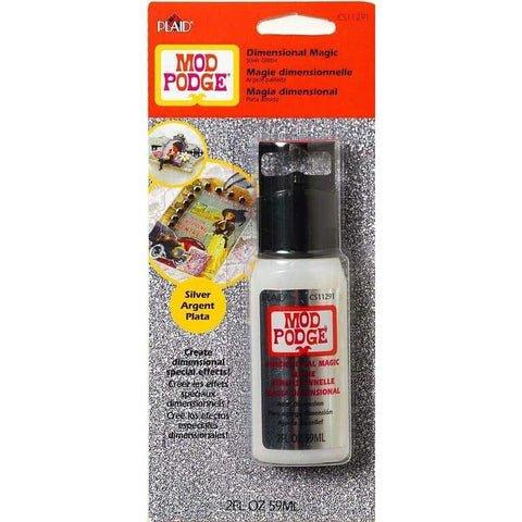 Mod Podge - Dimensional Magic Glitter Silver 2 Oz.