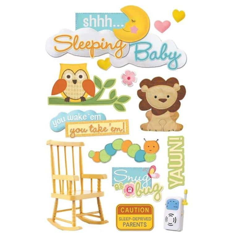 Paper House Productions 3D Sticker - Sleeping Baby
