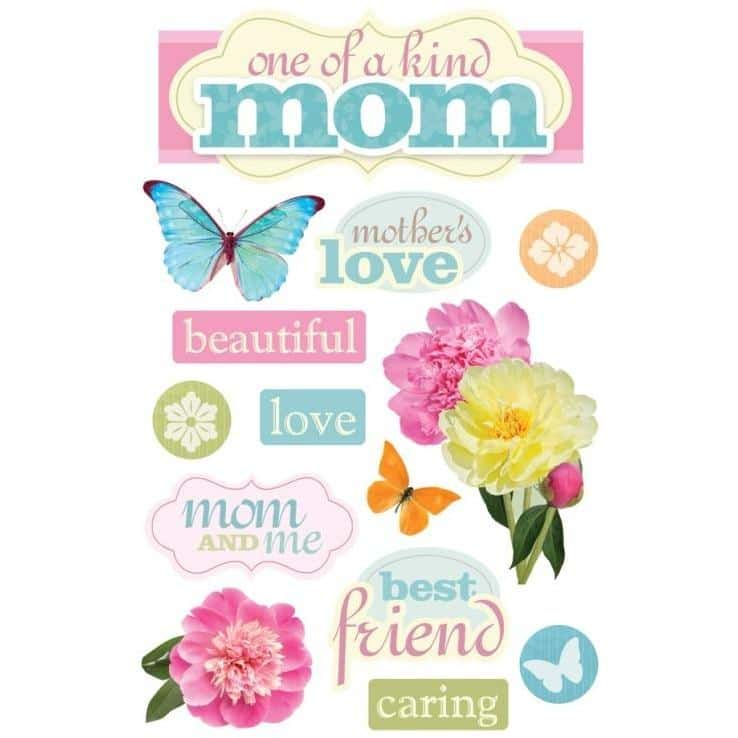 Paper House Productions 3D Sticker - Mom