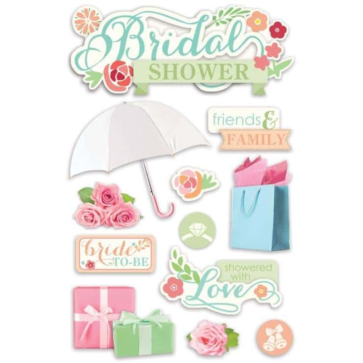Paper House Productions 3D Sticker -Bridal Shower