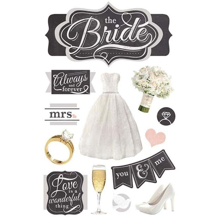 Paper House Productions 3D Sticker - The Bride