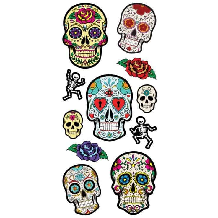 Paper House Productions 3D Puffy Sticker - Sugar Skulls