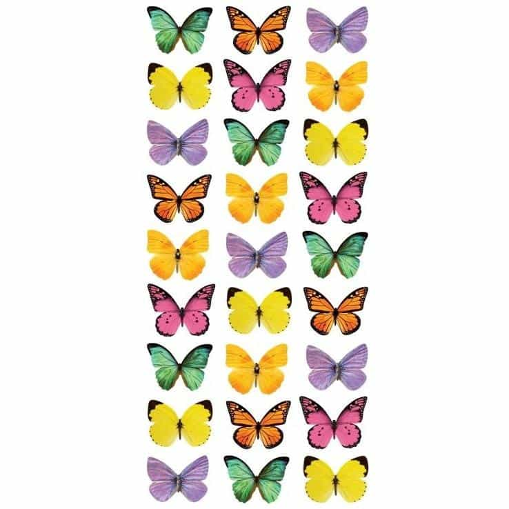 Paper House Productions 3D Puffy Sticker - Mini Mixed Butterflies
