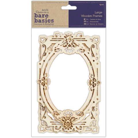 Papermania Wood Frames - Large 4pcs
