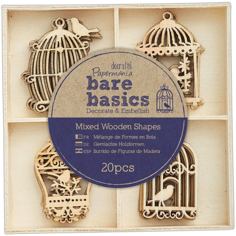 Papermania Wooden Shapes - Bare Basics - Birdcages