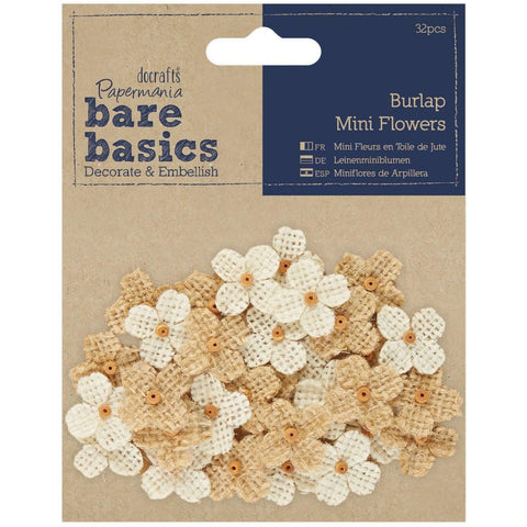 Papermania Burlap Mini Flowers (32pcs)