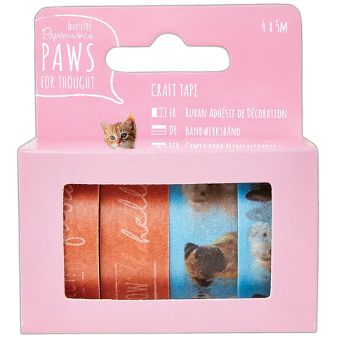 Papermania Washi Tape set - Paws for Thought