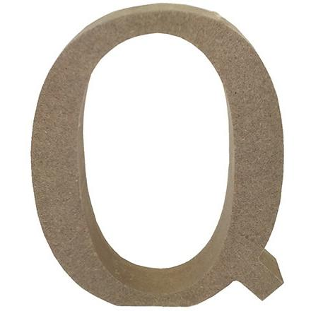 MDF Letter Blank - Q