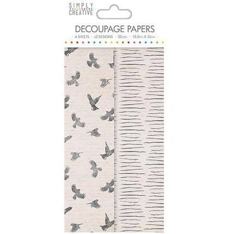 Simply Creative Decoupage Paper - Birds
