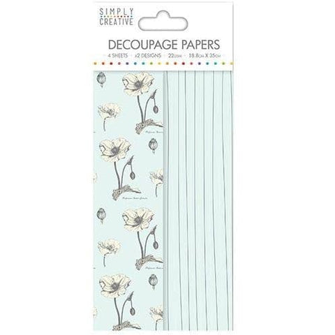 Simply Creative Decoupage Paper - Wild Flowers