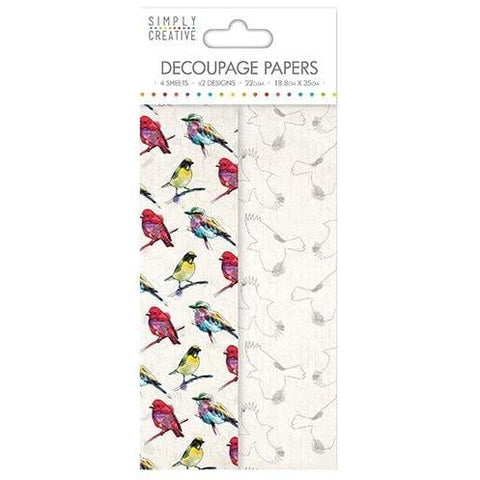 Simply Creative Decoupage Paper - Vibrant Birds