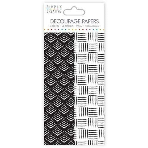 Simply Creative Decoupage Paper - Monochrome