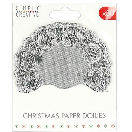 Simply Creative Christmas Basics Paper Doilies Silver