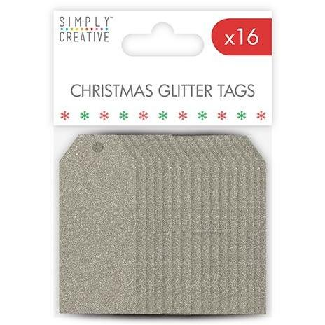 Simply Creative Christmas Basics Tags - Silver Glitter