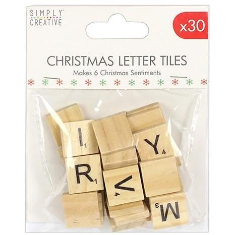 Simply Creative Christmas Wooden Tile Letters
