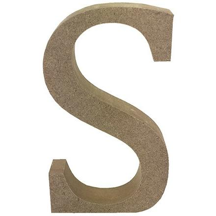 MDF Letter Blank - S
