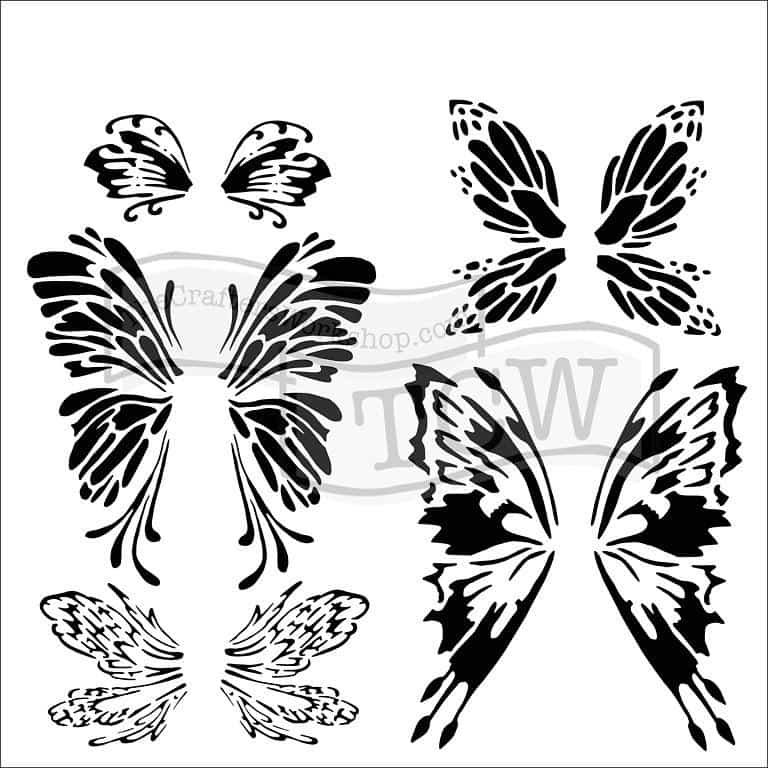 The Crafters Workshop 6x6 Stencil - Fairywings