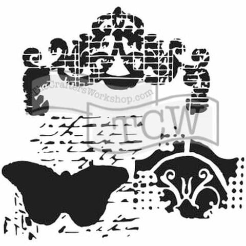 The Crafters Workshop 6x6 Stencil - Regal Butterfly